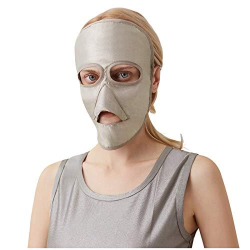 DUAN Material de algodón 100% Fibra de Plata Máscara de protección contra radiación electromagnética Protector de radiación EMF Teléfono móvil, Computadora, TV, WiFi
