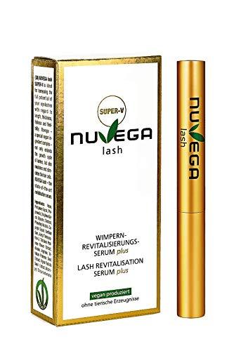 NuVega Lash Eyelash - Veganes Wimpernserum und Augenbrauenserum made in Germany (Super-V (3ml))