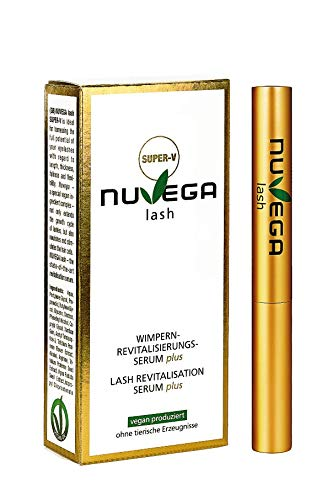 NuVega Lash Eyelash - Veganes Wimpernserum und Augenbrauenserum made in Germany (Super-V (3ml))