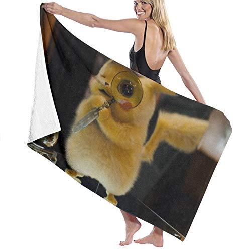 Detective-Pikachu Toallas de baño de secado rápido suave toalla de ducha de playa 130 x 80 cm