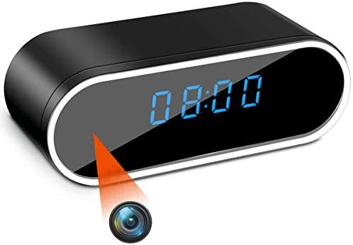 Hidden Spy Camera Clock HD 1080P WiFi Camera Alarm Clock with Night Vision and Motion Detective product image