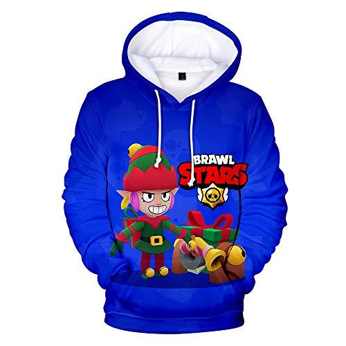 NHDYYWDX Unisex hässliche Weihnachten Pullover 3D Xmas Dinosaurier gedruckt Langarm Pullover Pullover Sweatshirt Herbst L F-3