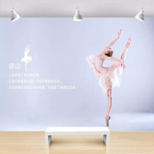 XHXI Papel pintado de salón de salud de gimnasio 8D simple y moderno papel tapiz de aula de baile Ballet Yoga Studio Fondo papel Pintado de pared tapiz Decoración dormitorio Fotomural-300cm×210cm