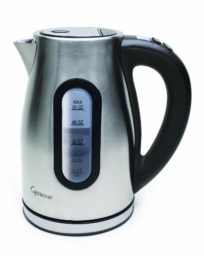 Capresso 276.04 H2O Pro Programmable Cordless Water Kettle, Brushed Stainless Steel
