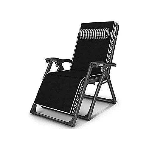 Taburete Sillones Plegables Zero Gravity para Patio al Aire Libre, sillón reclinable Ajustable, sillón Relajante reclinable para jardín, Patio al Aire Libre, cojín Grueso Acolchado (Color: A)