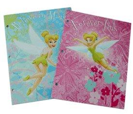 4 Piece Tinkerbell Folder Set - Childrens School Portfolios