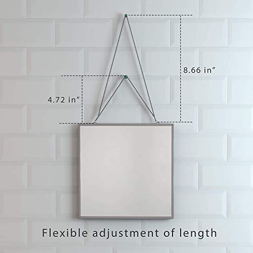 41EmqLT3sJL - Cozylady Fogless Shower Mirror for Shaving - Nanometer Small Vanity Mirror Makeup Mirror with Metal Chain Locker Mirrors for Wall-Anti-Fog Bathroom Mirror Wall Mirror Anti-Drop Protection Frame