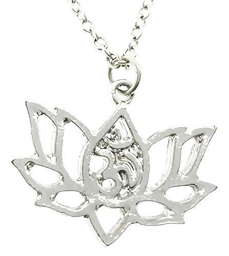 Lotusbloem ketting - elegant - bloem - yoga - spiritueel - vrouw - meisje - chakra - boeddhisme - tibetan - kerstmis - origineel cadeau-idee - sierraden - verjaardag - zilver - sieraden