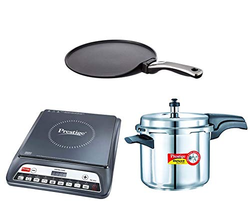Prestige Induction Cook top Pic 20.0,Deluxe Alpha Stainless Steel Pressure Cooker 5.5...