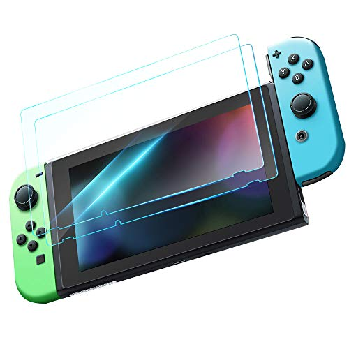 Nintendo Switch 用フィルム TopACE 2枚入り 【黄色味なし】「青光減」ブルーライト95%カット日本硝子素材 ...
