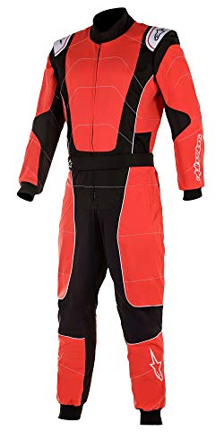 AS 3351720 Alpine Stars 2020 KMX-3 S V2 Kids Kart Anzug Kinder Cadet Junior Jugend, rot/schwarz, 120 (Height 118-126cm)