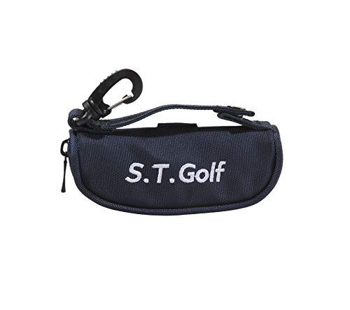 S.T.Golf ゴルフボールケース ゴルフ ボールポーチ おしゃれ な ゴルフ ボールケース 軽量 ボール3個 ティー3本収納 (ネイビー)