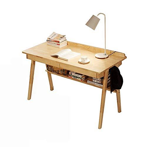 JNWEIYU Semplice Solidi Domestici Legno Desktop Computer Desk, Moderno Durevole Doppio cassetto Student Writing Desk Office Desk, Camera Desk (100/120 * 60 * 75cm) (Size : 120cm)
