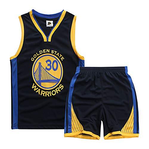 BFDC Ropa de Baloncesto para niños, Jersey Celtics Curry No. 30, Uniforme de Jersey de Baloncesto, Camisa de Chaleco de Malla + Traje Corto de Verano-Black-XXS