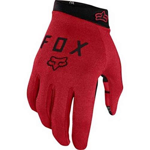 Fox Ranger Guantes de ciclismo de montaña compatibles con pantalla táctil, color rojo, S