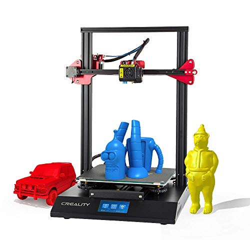 XYANZ CR-10 S5 3D Impression Imprimante/Bureau Kits DIY avec la Mise à Niveau V2.1 Version Conseil/Filament Capteur/Double Z Axe/Reprise Arrêt/Chauffage Lit/PLA 2 kg Filament 1.75mm