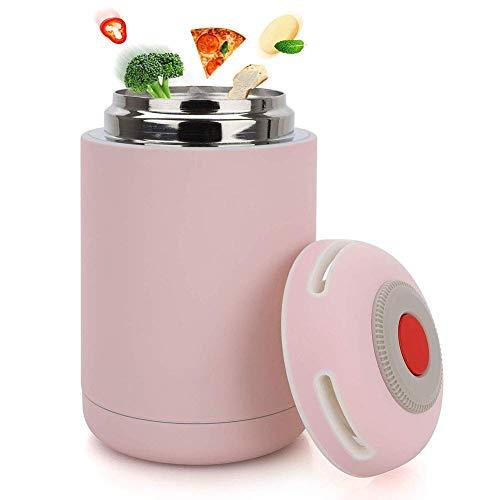 YFGQBCP Fiambrera Tarro Alimentación Alimentación Frasco - vacío de Acero Inoxidable Caja de Almuerzo for la Escuela Oficina de Picnic al Aire Libre Viajes - Rosa
