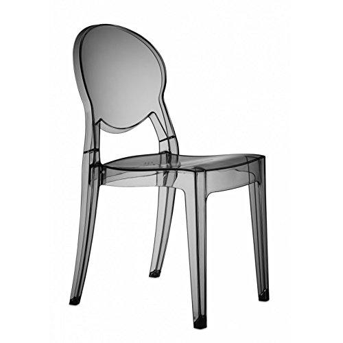 Scab Design Sedia Igloo Chair in policarbonato Made in Italy- Set da 2 - Trasparente Fumè