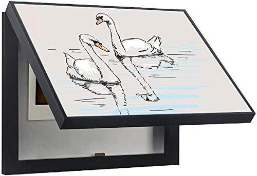 LCSHAN Caja Eléctrica Medidor De Pintura Decorativa Caja De Distribución Caja De...