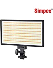 Simpex LED 630 - Ultra Slim - Professional LED Video Light with Battery 770 and Charger