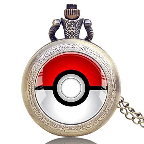 Pokemon Go Quarz-Taschenuhr mit Monster Anime Pokeball Bronze Pokemon Go