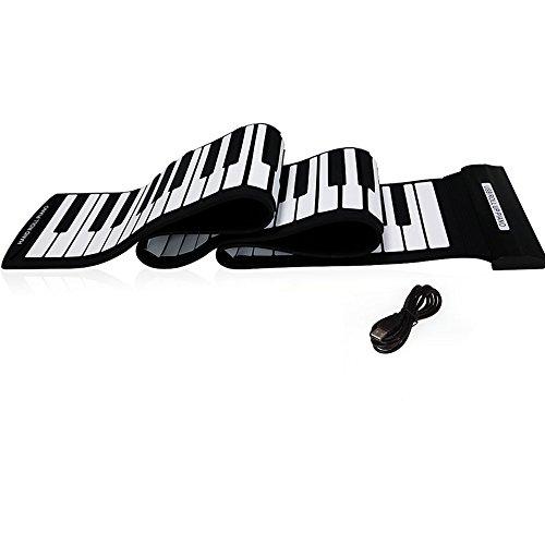 Andoer USB 88 Teclas Teclado de Piano Electrónico Entrollable...