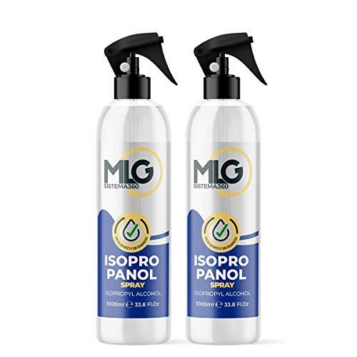2 x Isopropílico 99,9% 1000ml con Spray | Alcohol IPA de Limpieza | Ideal para limpieza de componentes electrónicos 1 Litro