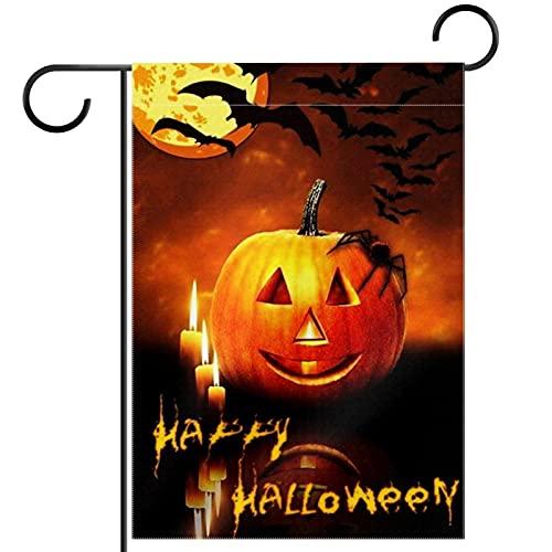 Tuin Yard Vlag Dubbelzijdig/12x18/Polyester Welkom Huis Vlag Banners, Halloween gelukkig vanavond