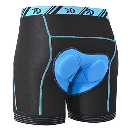 Pdbokew Men's Cycling Shorts Thick Padded Riding Shorts Elestic Leg Silicone Prevent Ride up