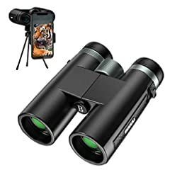 【Powerful 12x42 Binocular】12x power magnification and 374ft/1000yds large field of view, professional for bird watching, Traveling, Hiking, Hunting and Sports Events, great as gifts to friends and family for outdoor sports activities. 【Super Bright B...