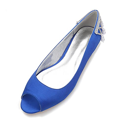 AQTEC Zapatos De Novia De Boda Plana para Mujer Verano con Punta...