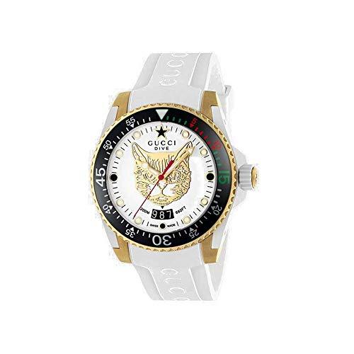 GUCCI Reloj Analógico para Hombre de Cuarzo con Correa en Caucho YA136322
