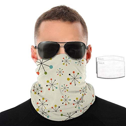 Night-Shop Unisex Retro Modern 50er 60er Jahre Sturmhauben Schal Gesichtsschutz Schild Schutzschal Krawatte mit Filter