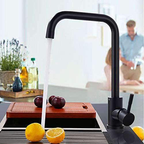 NJIANGHUA Keukenkraan Mat Zwart/Geborsteld Nikkel Keukenkraan Warm En Koud Water Mengkraan Voor Keukenwaterkraan Keukenkranen