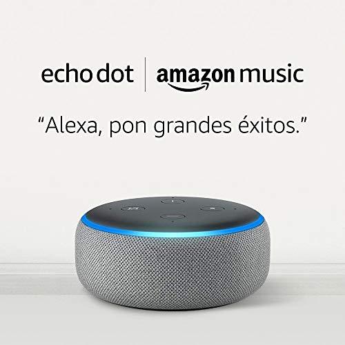 Altavoz Inteligente Echo Dot - (3ª generación) tela de color gris
