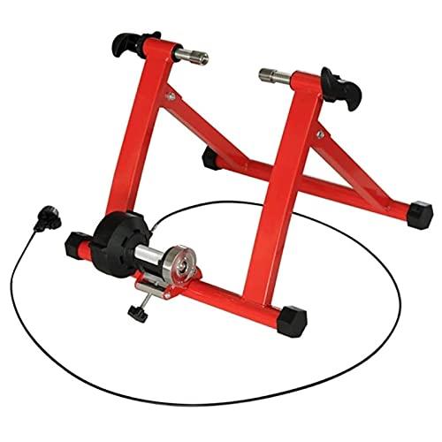Lanrui Bici MTB Punto de sujeción Ajustable en Altura con un cómodo Silencio Bicicleta Turbo Trainer se Adapta a su tamaño de la Rueda Diferente (24'~ 28' Y 700C) Bike