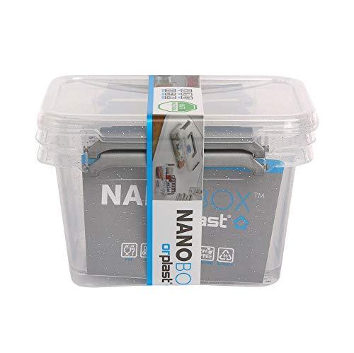 39 x 39 x 35 cm Clips 6 x ORPLAST SolidStore box 36 Liter mit Deckel grau