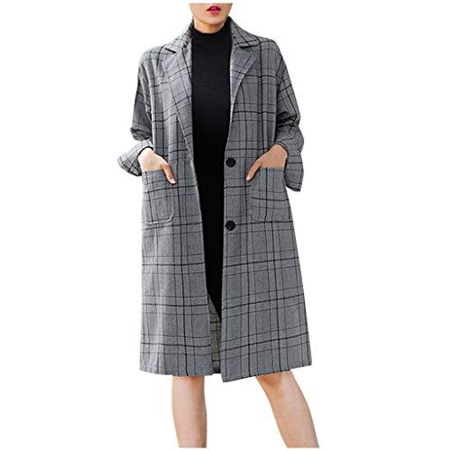 AOGOTO Plaid Kapuzenpullover Herbst Und Winter Kleidung Neu Wild Lange Frauen Mantel