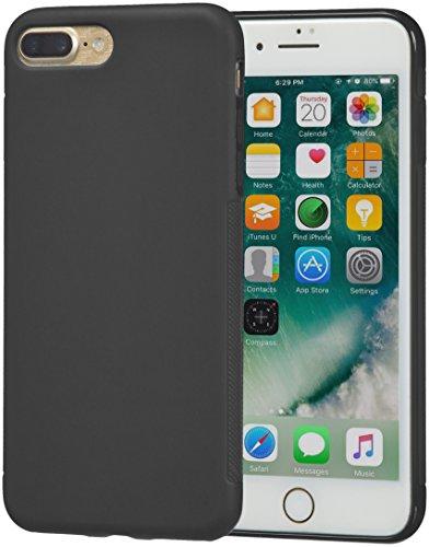 AmazonBasics iPhone 8 Plus / 7 Plus Carcasa protectora texturizada, Negro