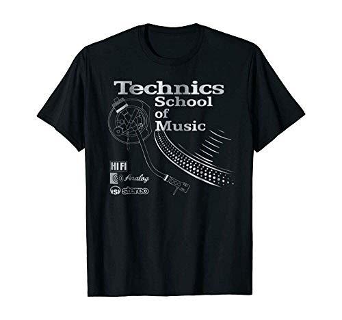 Technics Logo T Shirt Funny Birthday Cotton tee Vintage Gift for Men