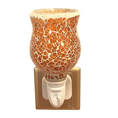 OUYA Quemador De Cera Eléctrico Melt Plug-In Warmer Lámpara Lámpara De Aroma De Mosaico 13.5 * 7.2Cm - Regalo Ideal para Bodas, Hogar Y Aromaterapia,Oro