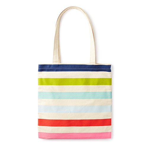 Book bag is made of a heavyweight canvas that makes it durable enough to tote around all your things Reusable tote features two straps that are long enough to be worn on your shoulder comfortably and an interior pocket to store pens, jewelry, and mor...