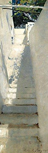 1art1 John Singer Sargent - Treppenaufgang In Capri, 1878, 1-Teilig Fototapete Poster-Tapete 250 x 79 cm