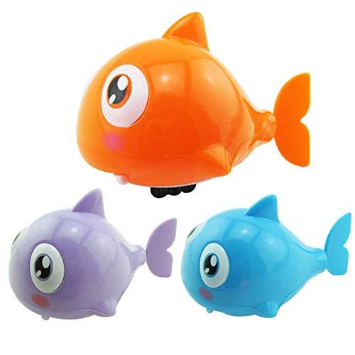 dili-bala 3 unids/set Juguetes de bebé de viento para bañera de pescado Juguetes de varios colores Bañera de baño de juguete piscina juego para niños y niñas (Multi)