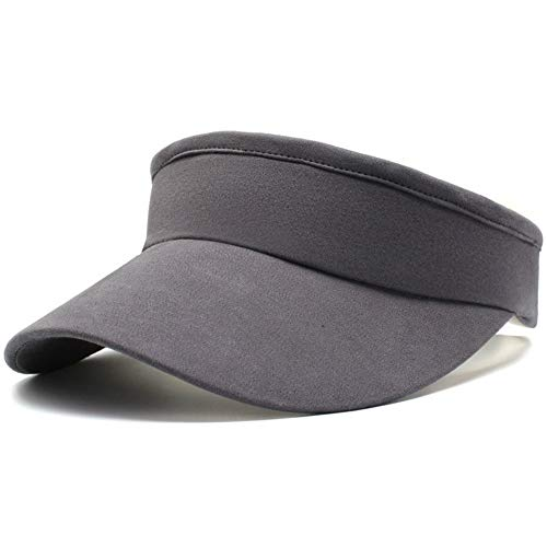 Fasbys Visier Sports Hüte Damen Mädchen Breathable Lange Krempe leer Top Cap Visier zum Joggen (Style3_Dark Grey)