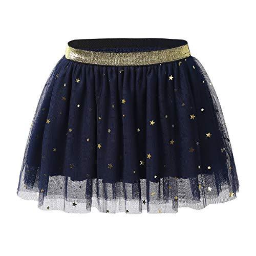 FEESHOW Jupe Danse Filles 12 Mois - 5 Ans Déguisement de Pom-Pom Girl Uniforme écoliere Tutu Ballet Jupe plissé de Sport Bleu 3-4 Ans