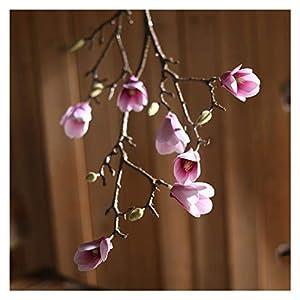 JSJJAED Artificial Flowers 85cm Silk Magnolia Art Flowers Long Branch Orchid
