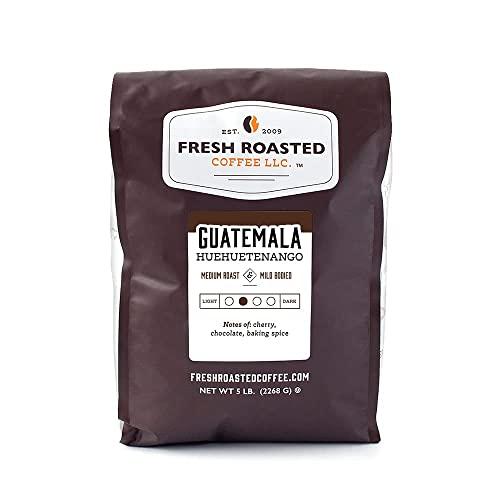 Fresh Roasted Coffee, Guatemalan Huehuetenango, Medium Roast, Kosher, Whole Bean, 5 Pound
