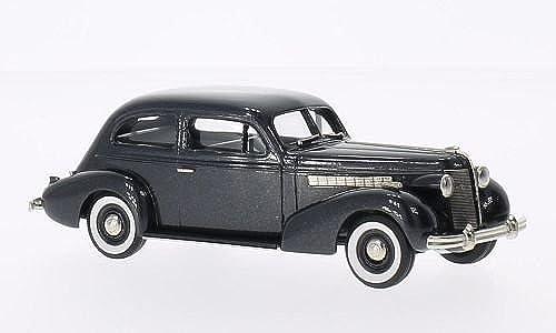 Buick Special 2-DR Plain Back 4-door Sedan M-44, metallic-dunkelgrau, 1937, Modellauto, Fertigmodell, Brooklin 1 43