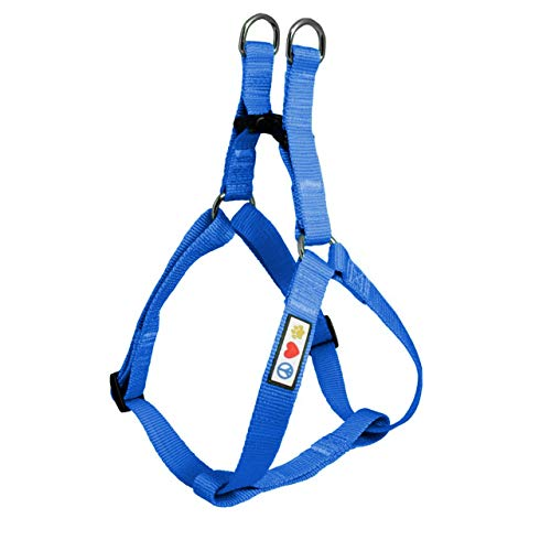 Pawtitas Solid Color Step in Dog Harness Vest Harness Dog Training Walking of Your Puppy Harness Extra Small Dog Harness Blue Dog Harness